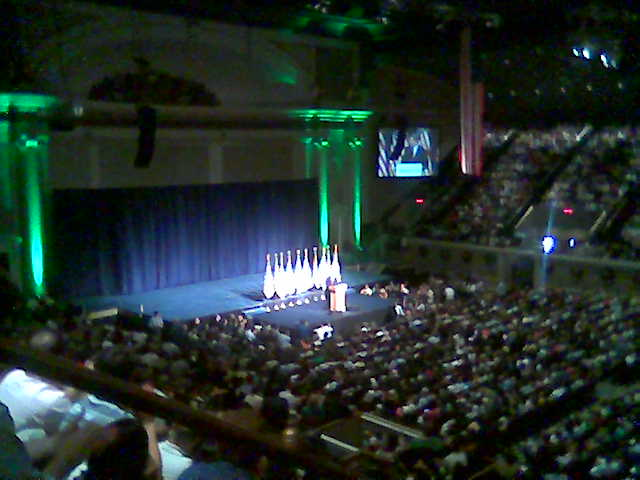 Al Gore is speaking about the WE campaign.