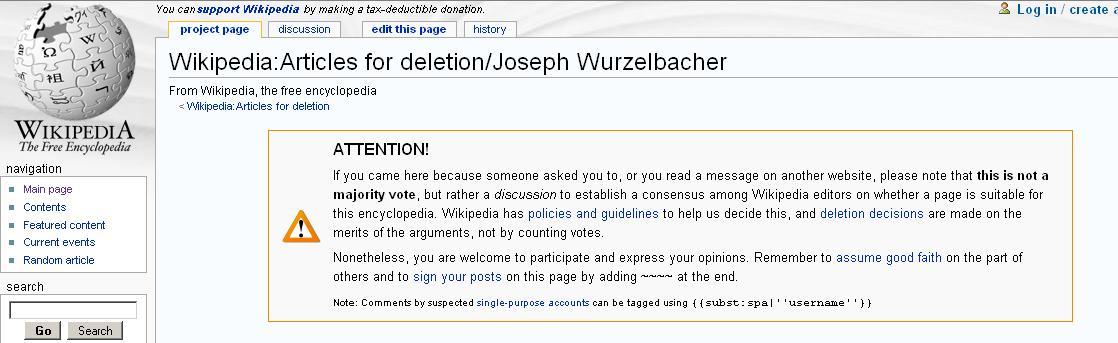 Joe the Plumber debate on Wikipedia